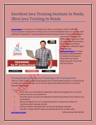 Java Training Institute in Noida-Training Basket