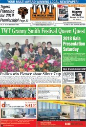The Weekly Times - TWT - 10th October 2018