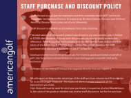 Staff purchase and discount policy 2018