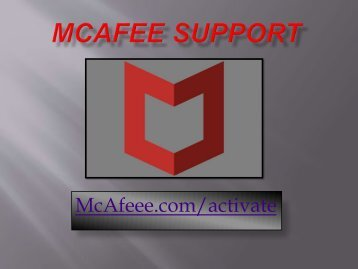 mcafee.com/activate - mcafee activate support