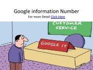 Google information Number