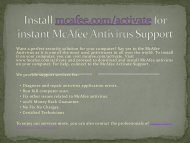 activate & install  mcafee by mcafee.com/activate