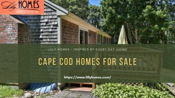 Search Cape Cod Homes for Sale by Lilly Homes