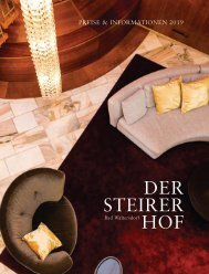 Steirerhof Preisliste 2019