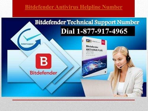 Dial Bitdefender Antivirus Helpline Number +1-877-917-4965