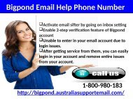 Bigpond Phone Number 1-800-980-183| Acquire Email Tech Help