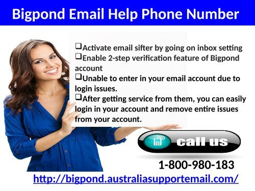 Bigpond Phone Number 1-800-980-183  Acquire Email Tech Help