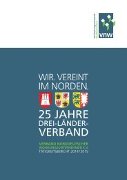 VNW-Tätigkeitsbericht - 2014