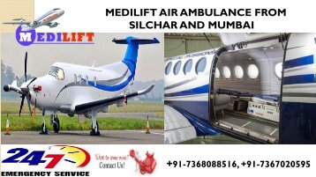 Get Prime Air Ambulance Services in Silchar and Mumbai by Medilift