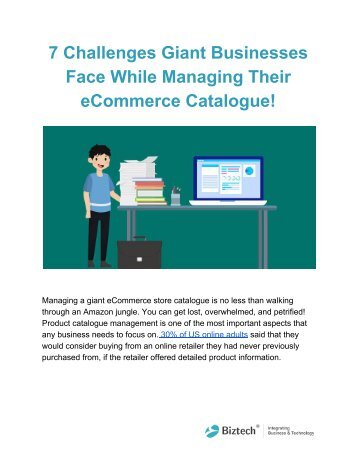 7 Challenges Giant Businesses Face While Managing Their eCommerce Catalogue!