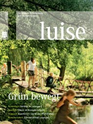 Parkmagazin LUISE: Ausgabe 1/2009, Frühjahr-Sommer - Luisenpark