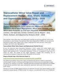 Transcatheter Mitral Valve Repair and Replacement Market Opportunity Analysis 2018 – 2026