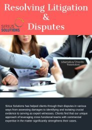 Get Help to Resolve Corporate Litigation & Disputes | Sirius Solutions