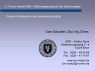 Weitere Gefahrstoffe - BZR-Institut Bonn