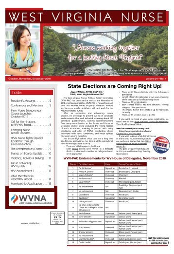 West Virginia Nurse - October 2018