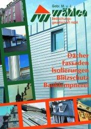 Dächer Fassaden Isolierungen Blitzschutz Bauklempnerei