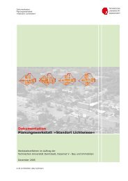 Dokumentation Planungswerkstatt - Technische Universität Darmstadt