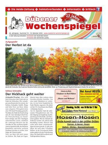 Dübener Wochenspiegel - Ausgabe 19 - Jahrgang 2018