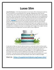 Luxxe Slim - Burn Fat From the Body by Turning Into Energy