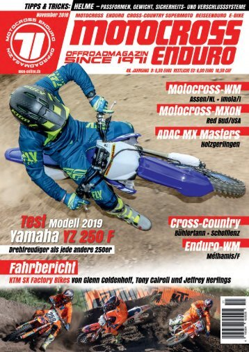 Motocross Enduro Ausgabe 11/2018