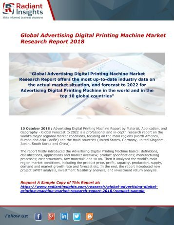 Advertising Digital Printing Machine Market : Size, Industry Share, Growth And Forecast Report 2018