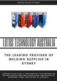 The Leading Provider of Welding supplies in Sydney