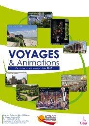 Voyages et animation - Automne-Hiver 2018