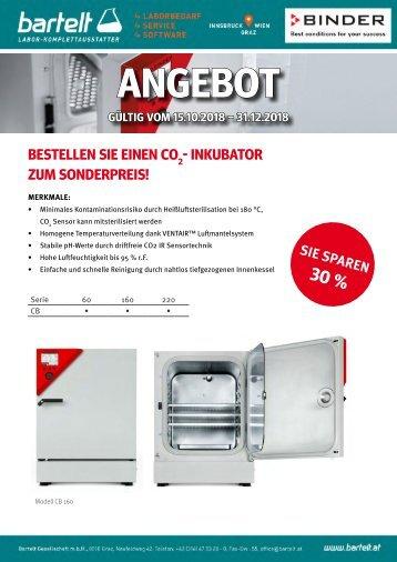 Bartelt BINDER C02 Inkubator Aktion