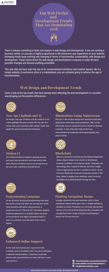 Top Web Design and Development Trends That Are Dominating 2018
