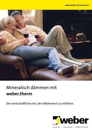 Mineralisch dämmen mit weber.therm