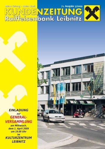 Ausgabe 71 (pdf) - Raiffeisenbank Leibnitz