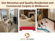 Get Attractive and Quality Residential and Commercial Carpets in Melbourne