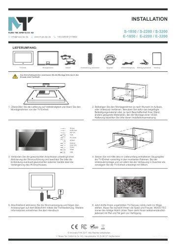 Installation Bad TV 32