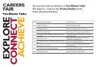 KTS Careers Fair Ten Minute Talk Program 2018