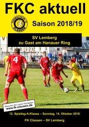 FKC Aktuell - 12. Spieltag - Saison 2018/2019