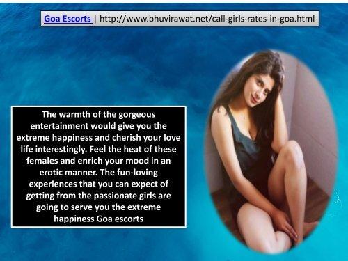 Goa Escorts | http://www.bhuvirawat.net/call-girls-rates-in-goa.html