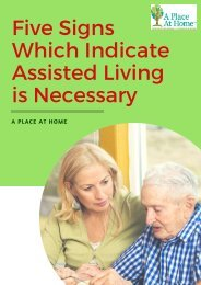 Five Signs Which Indicate Assisted Living is Necessary