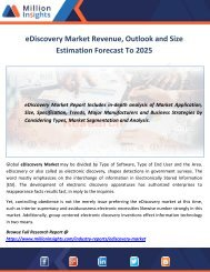 eDiscovery Market Revenue, Outlook and Size Estimation Forecast To 2025