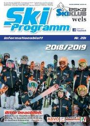 ESKA Skiklub Wels Programm 2018/19