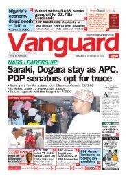 10102018 - NASS LEADERSHIP: Saraki, Dogara stay as APC, PDP senators opt for truce