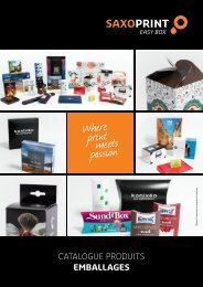 SAXOPRINT Catalogue Produits Emballages (FR)