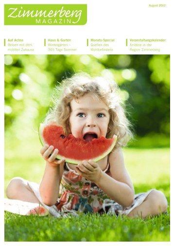 Ausgabe August 2012 - Zimmerberg-Magazin