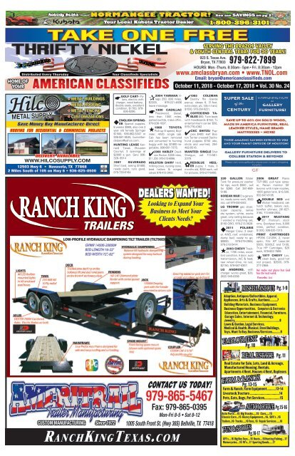 Thrifty Nickel American Classifieds Oct 11th Edition