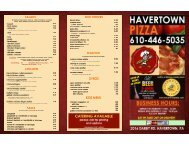 havertown pizza inside for menu express for print .psd