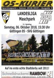 Saison 18/19 - SpTg 11: Gö̈ttingen 05 - SVG Gö̈ttingen