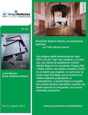 e-AN 39 nota 1 Diseñando desde la historia, una experiencia espiritual por Carlos Sánchez Saravia