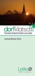 dorfklatsch - Herbst/Winter 2018