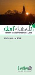 dorfklatsch - Herbst/Winter 2018