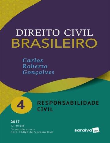 Direito Civil Brasileiro- Volume 04 - Carlos Roberto Gonçalves-2017