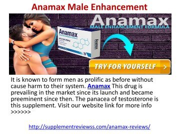 Anamax Male Enhancement